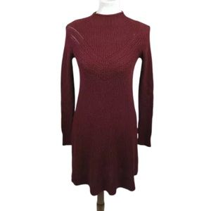 NEW American Eagle Sweater Dress Cable Knit Red